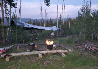 Base Camp at Dusk