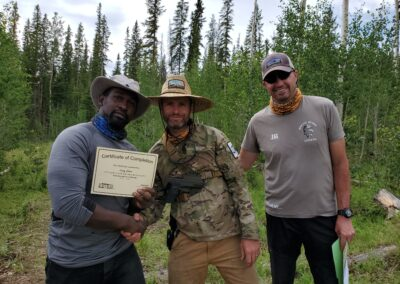 Larry, Rhod (British Commando) and Jon (Navy Seal)